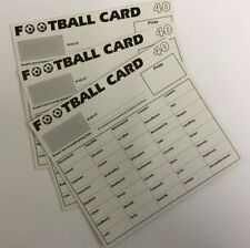 100 x 40 TEAM FOOTBALL FUNDRAISING SCRATCH CARDS WITH EUROPEAN TEAM NAMES