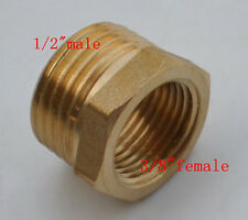 """2 pieces Connector Bras NPT G1/2""""male transfor 3/8"""" female threads adapter"""