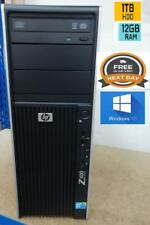 BRAND NEW HP Z400 TOWER XEON W3520@2.67GHz 12GB RAM 1TB HDD WIN 10 P DVD-RW UK