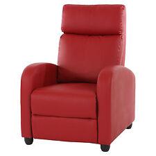 Fernsehsessel Relaxsessel Liege Sessel Dallas, Kunstleder rot