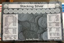 """11"""" X 17"""" Silver Stack Coin Roll Hunting Mat - Rubber Backed and Safe for Coins!"""