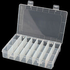 Clear 24-Compartment Earring Ring Jewelry Storage Box Container Case Pretty