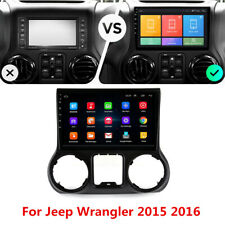 """New listing 10.1"""" Android 9.1 Car Stereo Radio Gps Mirror Link For Jeep Wrangler 2015 2016"""