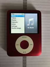Apple iPod Nano 3rd generation 8gb - Working - With Cord Product Red Model A1236