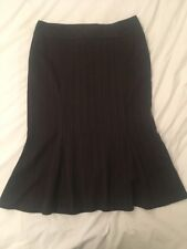 Ladies Brown Smart Formal Skirt - Sexy Fishtail Office Suit By NEXT Size 10 - 12