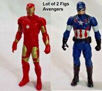 "2 Pc Super Hero Marvel Hasbro 2015 Iron Man / Captain America The Avengers 4"""