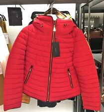 ZARA Red Anorak Quilted Parka Jacket Coat Size Medium M Puffer Winter Coat