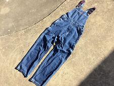 Vintage Tommy Hilfiger Overalls Dark Wash Denim Blue Womens XL Bib Carpenter