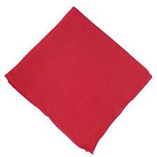 Halstuch 50 x 50 cm rot Baumwolle 1A Qualität Einfarbig Uni Tuch PORTOFREI