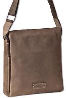 Woodland® Umhängetasche / Messenger in Dunkelbraun aus naturbelassenem Leder