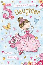 Buy princessfairies birthday child greeting cards ebay daughter 5th birthday card age 5 quality card beautiful verse by grass roots m4hsunfo