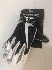 NWT Nike Adult Vapor Knit Football Skill Gloves GF0571-010 SZ Large Black White