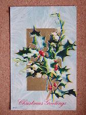 R&L Postcard: Christmas Greetings Art Card, Winter Holly