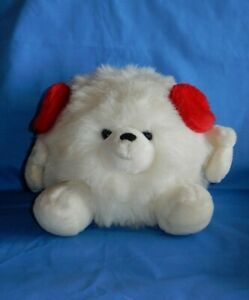 Russ Berrie Snowball White Plush w Ear Muffs