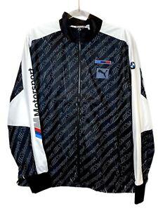 Puma BMW Motorsport Street Jacket Black All Over Print Men's Small