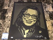Rodriguez Rare Autographed Signed Lithograph Searching For Sugar Man Sixto COA