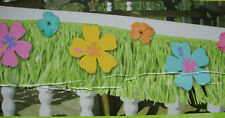 LARGE Hawaiian Garland & flowers banner Decoration Grass style hibiscus flowers