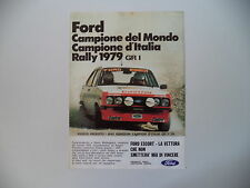 advertising Pubblicità 1980 FORD ESCORT RALLY GR1 CAMPIONE e ANGELO PRESOTTO