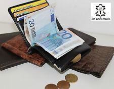 porta carte tessere credito patente monete contante soldi euro in pelle badge it
