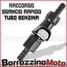 CONNETTORE RACCORDO SGANCIO RAPIDO TUBO BENZINA DA 8mm
