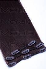 45cm 60cm Clip In Extensions 100% Remy Echthaar Haarverlängerung Haarteil Haare