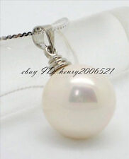 BAR STYLE HUGE SEA WHITE MOTHER-OF PEARL 20MM PENDANT + CHAIN
