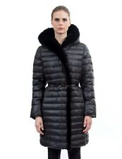 Goose Down Coat Jacket Parka Пуховик w/ Mink Fur & Rabbit sz L 10  EU 42 $895