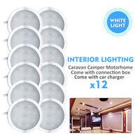 12X12V natural White Caravan Camper Trailer Car Boat LED Down Light Ceiling Lamp