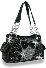 Handbag Black Designer Owl Black Shoulder Bag