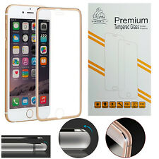 Metal Edge iPhone 6S/6 Or Véritable Gorilla Tempered Glass LCD Screen Protector