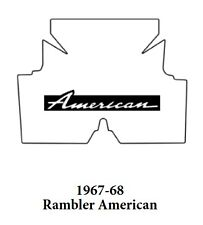1967 1968 AMC Rambler American Trunk Rubber Floor Mat Cover with A-007 American