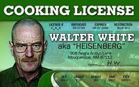 walter white plastic ID card Drivers License Heisenberg Bryan Cranston brian