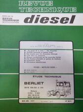 Revue technique DIESEL BERLIET GR-TR 300 320 et 350 V 825 V 835 RTA 88D 1977
