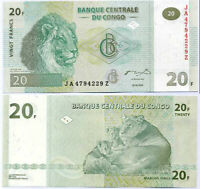 CONGO 20 FRANCS 2003 P 94A G&D JA - Z REPLACEMENT UNC