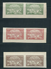RUSSIA 1921 RELIEF WORK on the VOLGA RIVER (Scott B14-16) VF MNH pairs