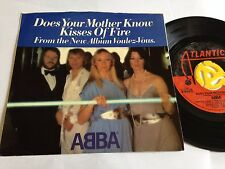 """Abba - Does your Mother Know / Kisses of Fire 1979 Release 7"""" Vinyl"""