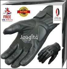 Cow Leather Motorbike Motorcycle Gloves Knuckle Shell Protection Vented