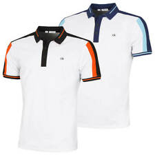 Calvin Klein Mens Shoulder Colour Block SmartTec Polo Shirt 54% OFF RRP