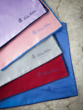 9 BROOKS BROTHERS Silk Pocket Square Handkerchief 100% Silk NWOT NWD