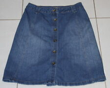 Womens size 10 button down a-line stretch denim skirt made by KATIES