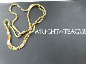 WRIGHT & TEAGUE Designer gold silver chunky chain for pendant 20 inches