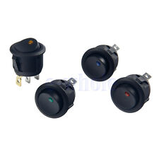 4 X 12V LED Coche Barco ON/OFF Toggle SPST interruptor Indicador Switch BC