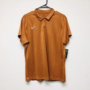 Nike Dri-Fit Golf Polo (Women's Size XL) Brown Athletic Top
