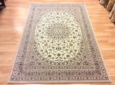 HIGH QUALITY PERSIAN CREAM RED BLUE Wool Traditional Keshan Design Rug 160x230cm