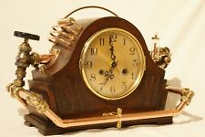 More details for 1930's art deco industrial mantel clock victorian style steampunk