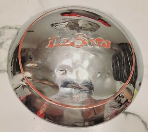 "(1) Vintage OEM 1949-1950 DeSoto Custom Chrome Moon Poverty 11"" Hubcap Hub Cap"