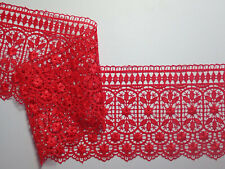 "The Place For Lace - Premium Bright Red Guipure Lace Trim 4.5""/11cm PER METRE"