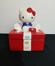 Hello Kitty Red & White Jelly Belly Ceramic Candy Dish 20418-4 C0