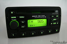 ORIGINALE Ford 6000cd RDS E-O-N 6000ne 6000 CD AUTORADIO RADIO NERO keycode