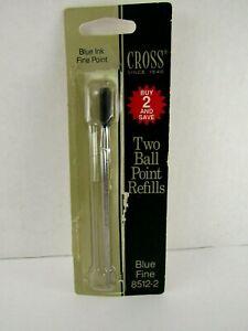 Cross 8512 Blue Ink Fine Ball Point Pen Refill  ~New Old Stock